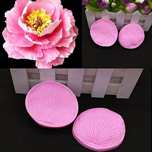 JD Million shop Clay 3D Flower Petal Leaf Silicone Fondant Mould Cake Decor Chocolate Baking ZH779