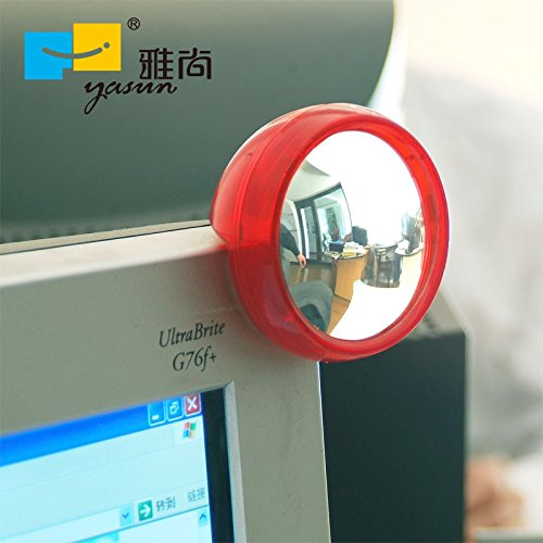 EDTara Laptop Monitor Rear View Mirror for Computer Creative Fashion Computer Privacy Protected Round Rear View Mirror