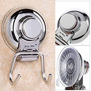 Bathroom Kitchen Vacuum Suction Cup Hook,Hook Multipurpose Holder, Super Powerful Suction On Any Non-porous Smooth Surface,glass, metal and mirror
