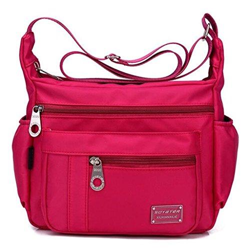 Rose Purse Bag Medium Size Nylon Shoulder Women`s Crossbody Resistant Lightweight Water Kecartu WqpRgq
