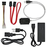 """Fosmon Technology USB 2.0 to 2.5"""" 3.5"""" IDE SATA HDD Hard Drive Converter Adapter Cable + AC Power Adapter"""