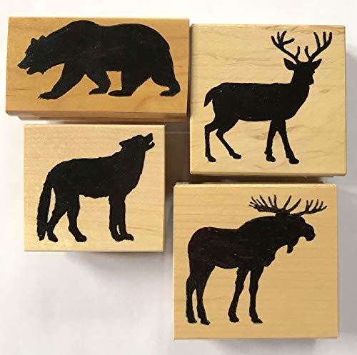 Wildlife Silhouette Rubber Stamps