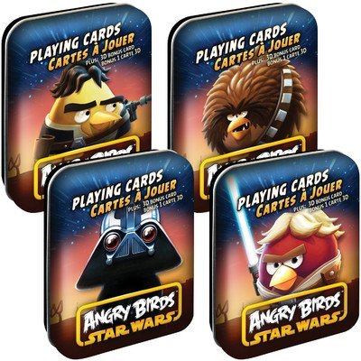 Cartamundi Angry Birds Star Wars Playing Cards Assorted Characters]()