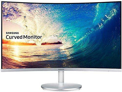 Samsung C27F591F 68,6 cm (27 Zoll) Monitor (HDMI, 4ms Reaktionszeit, 1920 x 1080 Pixel) silberweiß