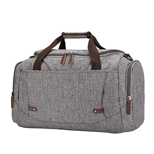 Weekend Handbag For On And Grey Men Holdall Bag Carry Travel Chenyang Canvas Tote Overnight Bags Women qPYvvF