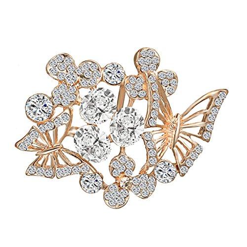(Merdia Elegant Butterfly Brooches Pins Women [Jewelry] (White Gold))