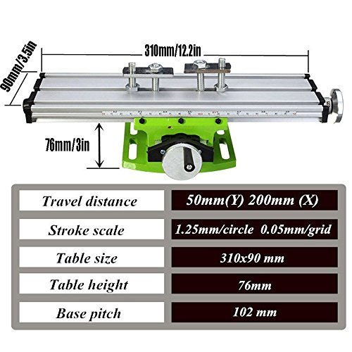 Multifunction Worktable Milling Working Table Milling Machine Compound Drilling Slide Table For Bench Drill By BEAUTY STAR by Beauty Star (Image #1)