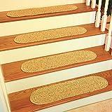 "RRI Home Décor Sabrina Tweed Stair Treads Rug, 8x28"", Oatmeal, Set of 4"