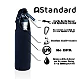 Beer Bottle Cooler With FREE Insulated Bottle Carrier Sleeve and Bottle Opener, Stainless Steel Insulated Bottle, Hides Your Beer