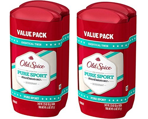 Old Spice High Endurance Pure Sport Scent Men's Deodorant, 2 Twin Packs of 2.25 Oz, 4 Total Pack by Old Spice (Image #1)
