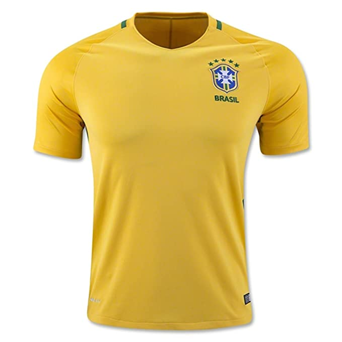 bedd011785f RBWISEG 2018 World Cup Brazil Home National Football Soccer Jersey In Yellow:  Amazon.co.uk: Clothing