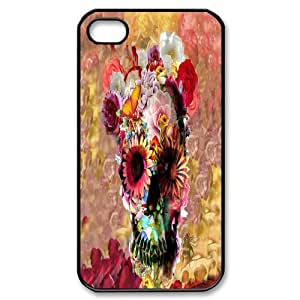 Custom Ultra-Clear Color Flower Sugar Bones For iPhone 4S Case by runtopwell