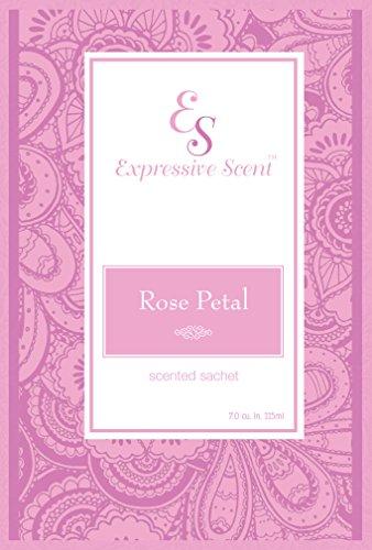 6 Pack Rose Petal Large Scented Sachet Envelope By Expressive Scent