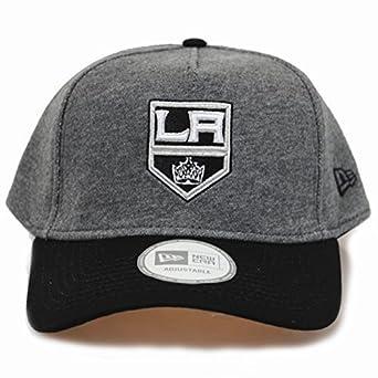 New Era 9forty LA Kings Adjustable Jersey Grey Black Baseball Hat ... a014bd45d93