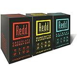 Redd Gluten Free Plant Based Superfood Energy Bar Variety Pack, 18 Bars (Packaging May Vary)