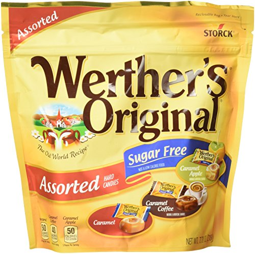 Werther's Original Assorted Hard Candies, Sugar Free, 7.7 Ounce Caramel Sugar Free Candy