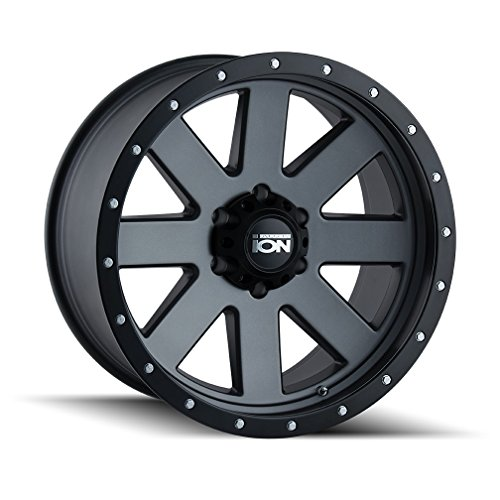 - Ion 134 Matte Gunmetal/Black Beadlock Wheel with Painted Finish (17 x 8.5 inches /6 x 120 mm, 6 mm Offset)