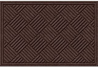 product image for Apache Mills Textures Crosshatch Entrance Door Mat, Chocolate, 2-Feet by 3-Feet