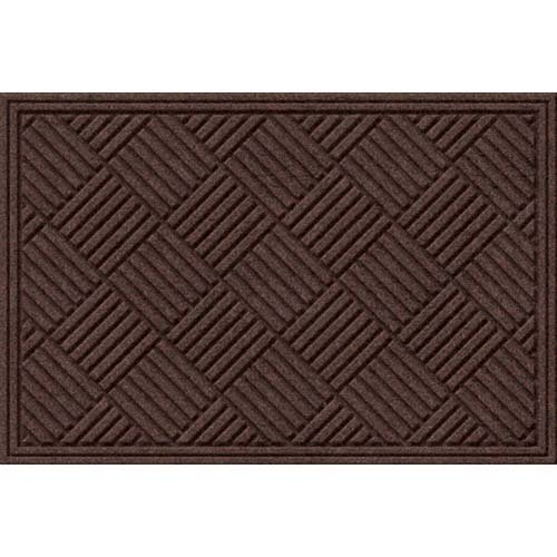 Textures Crosshatch Entrance Door Mat, Chocolate, 2-Feet by 3-Feet