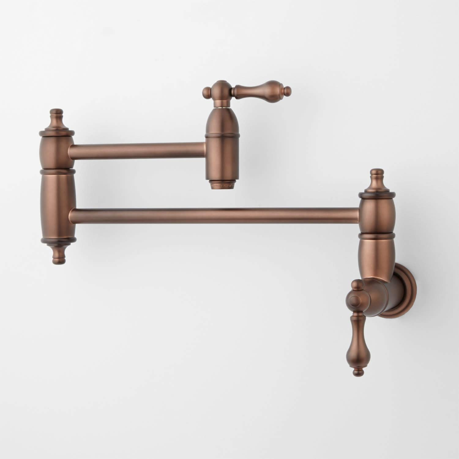 Signature Hardware 406303 Augusta 1.8 GPM Double Handle Wall Mounted Pot Filler