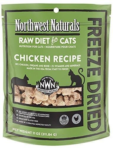 Northwest Naturals Freeze Dried Raw Diet for Cats (Chicken, 11 oz) by Northwest Naturals