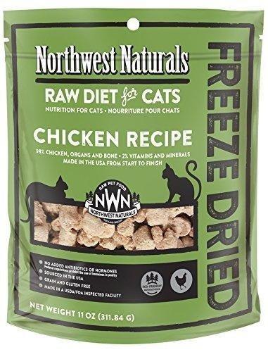 Northwest Naturals Freeze Dried Raw Diet for Cats (Chicken, 11 oz) (Best Raw Diet For Cats)