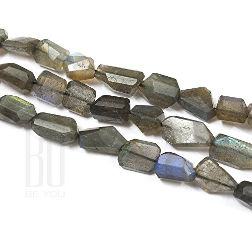 - Be You Grey with Blue Flash Color Natural African Labradorite Gemstone Laser Cut Tumble Shape Beads 1 Line Loose 12-15 inch Strand
