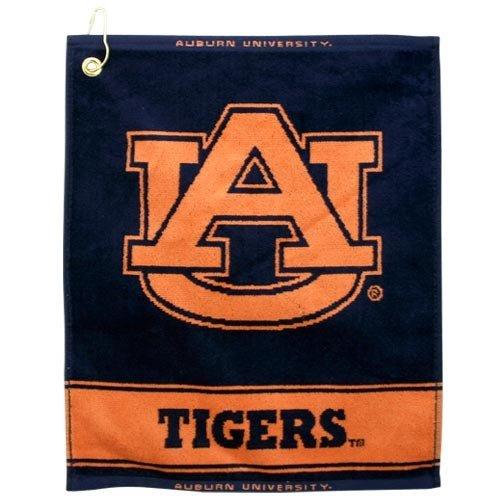 (Auburn Tigers Woven Jacquard Golf Towel)