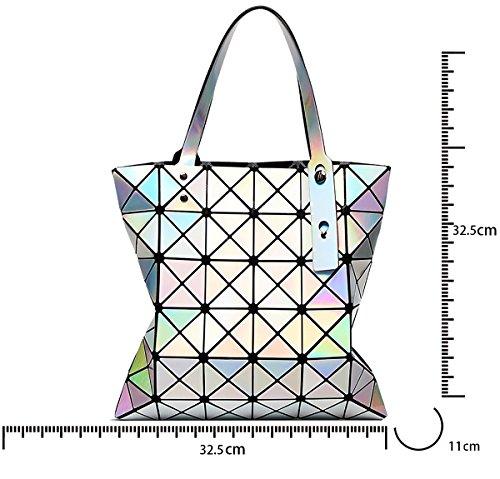 per tracolla geometrica a spiaggia da Borsa per da donne spiaggia pieghevole Rosa borsa le Tisdaini Laser borsa donna 81qOUSHxn