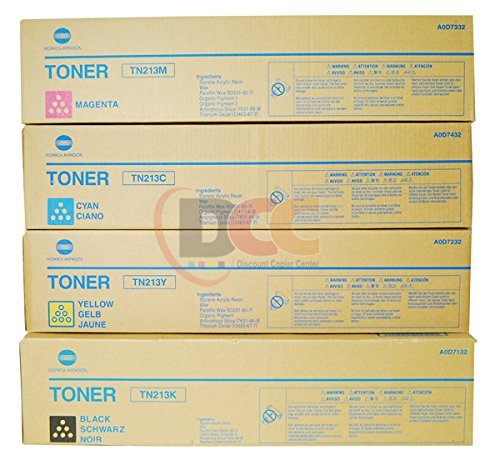Genuine Konica Minolta TN213 CYMK Toner Cartridge Set for Bizhub C203 C253 ()