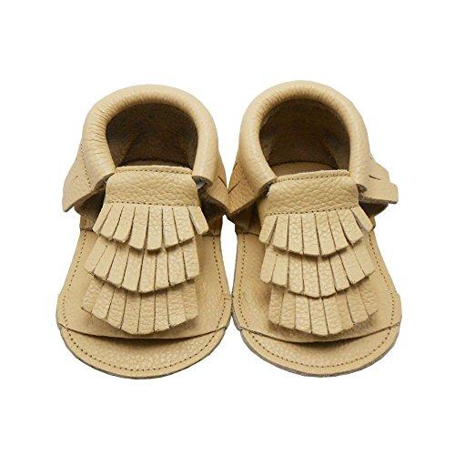 Sayoyo Baby Tassels Soft Sole Leather Infant Toddler Prewalker Shoes Sandal Toddler Summer Shoes