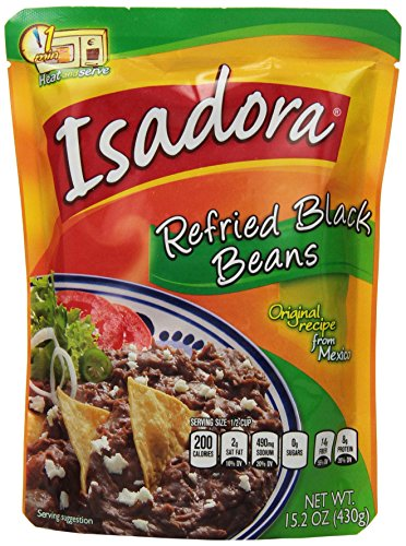 Isadora Black Refried Beans, 15.2-Ounce (Pack of 8) from Isadora