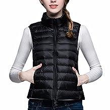 Paixpays Women'S Duck Down Vest Thin Slim Jacket Coat Lady Girl Collar Ourtewear