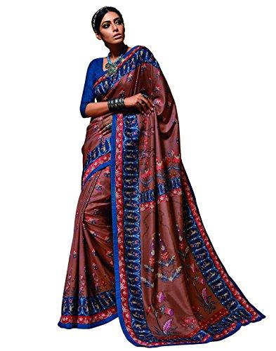 DesiButik's Graceful Multicolor Tusser Silk Saree