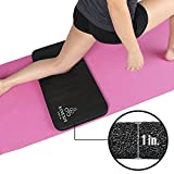 Kinesis Yoga Knee Pad Cushion – Extra Thick 1 inch (25mm) for Pain Free Yoga! Fits Standard Full Sized Yoga Mat and Comes with Velcro for Easy Travel and Storage!