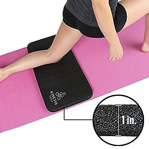Kinesis Yoga Knee Pad Cushion – Extra Thick 1″ w/ Free Bag