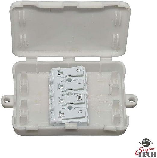 Caja de conexiones eléctrica 2A-24A/240V 4 polos bloque de terminales en línea caja de cables: Amazon.es: Bricolaje y herramientas
