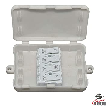 Caja de conexiones eléctrica 2A-24A/240V 4 polos bloque de ...