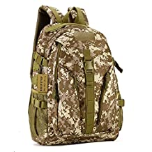 Protector Plus 40L Outdoor Sport Camouflage Tactical Assult Backpack Student School Bag Water-Resistant High Quality Designer Pack