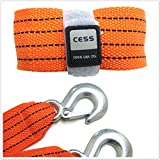Search : CESS 10ft 6000lb OFF ROAD 4x4 4WD WINCH SNATCH TOW STRAP WITH HOOKS