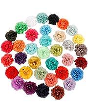 PetierWeit [36 PCS] Dog Collar Flowers Pet Bow Tie Flower Collars for Puppies, Kitties, Bunnies, Collar Grooming Accessories (8cm/3.14 in)