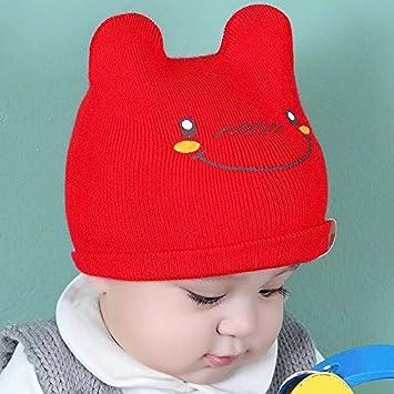 Wanglele Tricot Bébé Tricot Chapeau Hat Garçons Et Filles À La Tête De Buse  Hat Bébé 89ef651d033