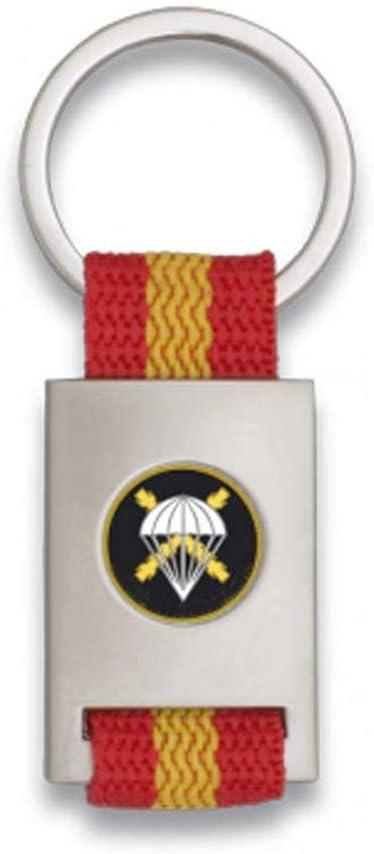 Tiendas LGP Albainox- Llavero Bandera DE ESPAÑA y Emblema Bridada Paracaidista, Plateado: Amazon.es: Equipaje