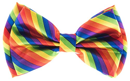 Man of Men - Men's Bowtie - Multi Color Rainbow Bow Tie ()