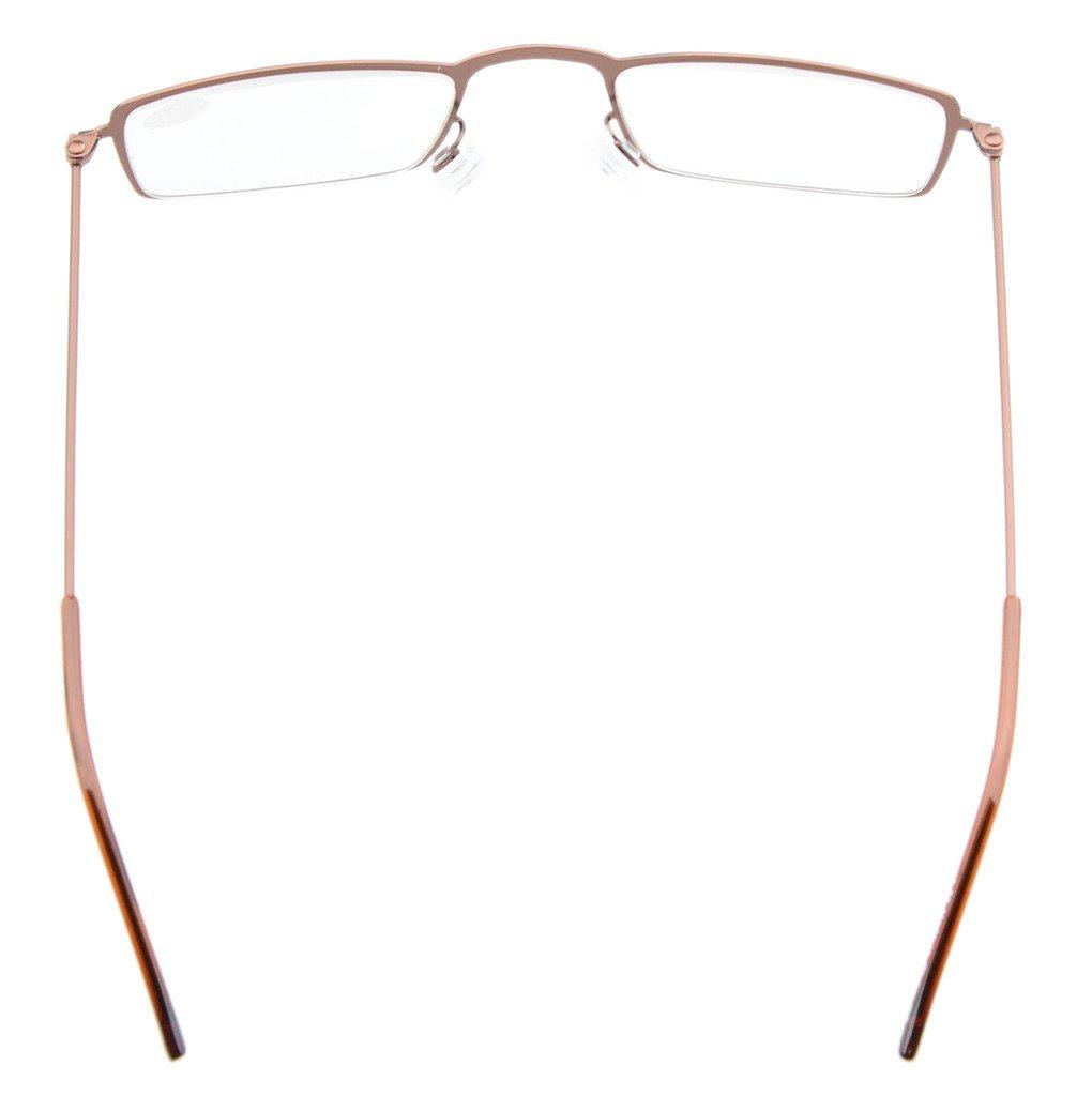 1.75 Eyekepepr 5-Pack Stainless Steel Frame Half-eye Style Reading Glasses Readers