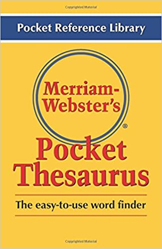merriam webster s pocket thesaurus pocket reference library