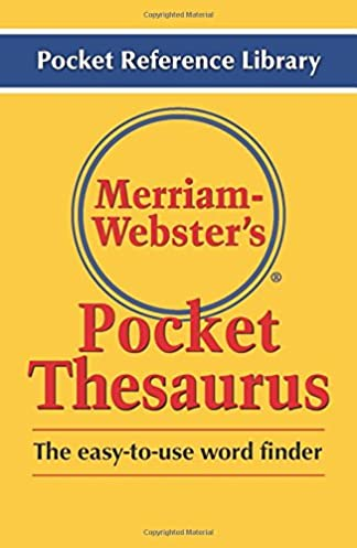 Merriam-Webster\u0027s Pocket Thesaurus (Pocket Reference Library) 1st Edition  sc 1 st  Amazon.com & Merriam-Webster\u0027s Pocket Thesaurus (Pocket Reference Library ...
