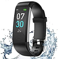 iWalker Smart Pulsera Fitness Tracker, Pulsera Actividad de Frecuencia Cardíaca, Impermeable IP68, Podómetro Deportiva…