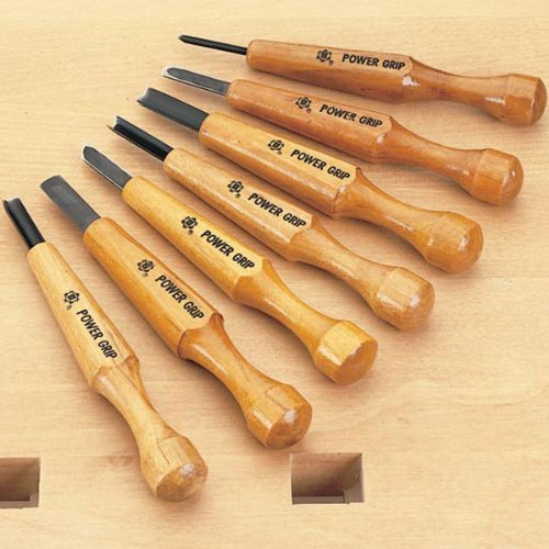 Power Grip Carving Tools, Seven Piece Set