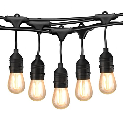 Dimmable Outdoor Patio Lights: 49Ft LED Outdoor String Lights, Commercial Globe Lights